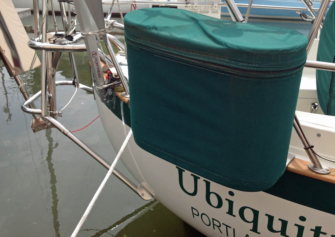 Beautiful Propane Storage: The Propane Locker Is External, Hung Off Of The Stern  Pulpit, ...